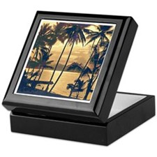 Tropical Silhouettes Keepsake Box