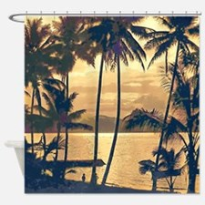 Tropical Silhouettes Shower Curtain