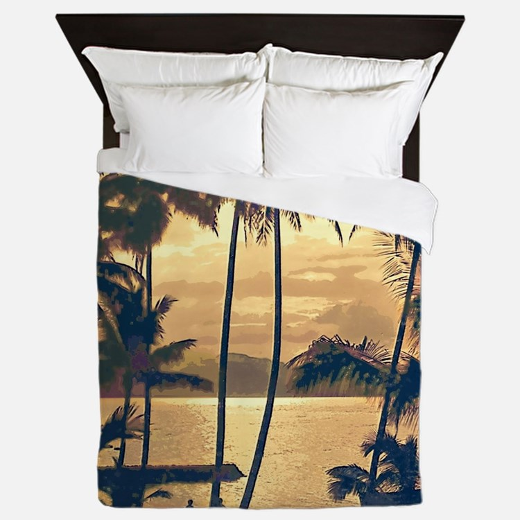Tropical Silhouettes Queen Duvet