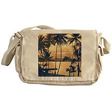 Tropical Silhouettes Messenger Bag
