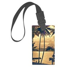 Tropical Silhouettes Luggage Tag