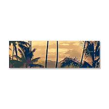 Tropical Silhouettes Car Magnet 10 x 3