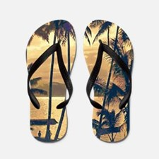 Tropical Silhouettes Flip Flops