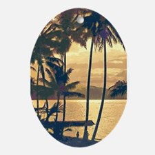 Tropical Silhouettes Ornament (Oval)