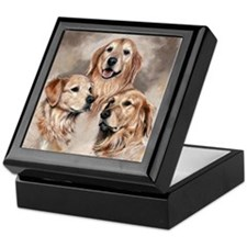 Golden Retrievers by Dawn Secord Keepsake Box