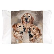 Golden Retrievers by Dawn Secord Pillow Case
