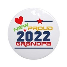 2015 Proud New Grandpa Ornament (round)