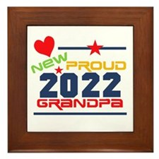 2015 Proud New Grandpa Framed Tile