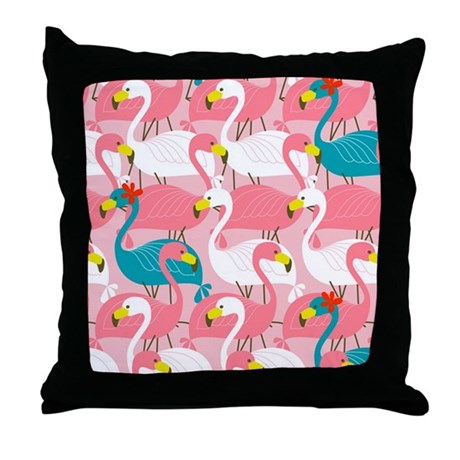 PINK AND BLUE FLAMINGOS Throw Pillow by ThingsCollectable