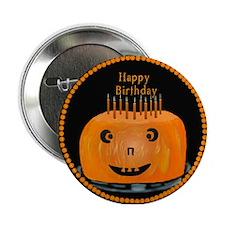 Halloween Birthday Button
