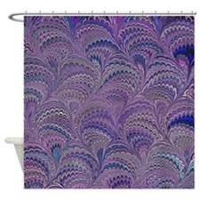 Mauve Fanfair Shower Curtain