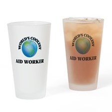 Aid Worker Drinking Glass