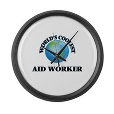Aid Worker Large Wall Clock