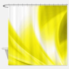 Yellow Flush Shower Curtain