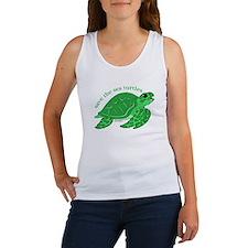 Green Turtle Tank Top