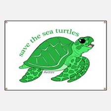 Green Turtle Banner