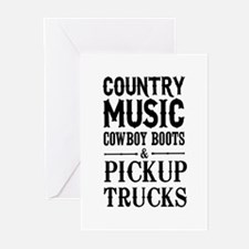 Country Music, Cowboy Boots & Pickup Trucks Greeti