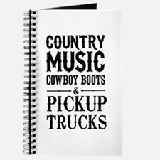 Country Music, Cowboy Boots & Pickup Trucks Journa