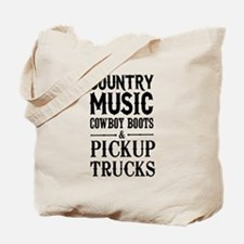 Country Music, Cowboy Boots & Pickup Trucks Tote B