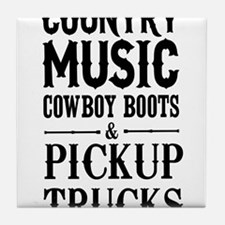 Country Music, Cowboy Boots & Pickup Trucks Tile C