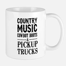 Country Music, Cowboy Boots & Pickup Trucks Mugs