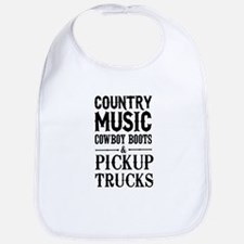 Country Music, Cowboy Boots & Pickup Trucks Bib