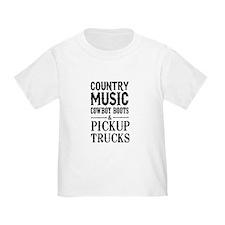 Country Music, Cowboy Boots & Pickup Trucks T-Shir