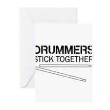 Drummers Stick Together Greeting Cards