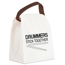 Drummers Stick Together Canvas Lunch Bag