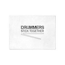Drummers Stick Together 5'x7'Area Rug