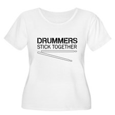 Drummers Stick Together Plus Size T-Shirt