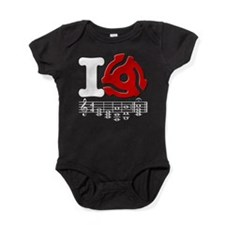I 45RPM Record Adapter Music Baby Bodysuit
