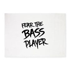 Fear the Bass Player 5'x7'Area Rug
