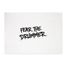Fear the Drummer 5'x7'Area Rug