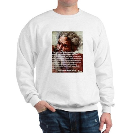 Sweatshirt Richard dawkins on Yahweh