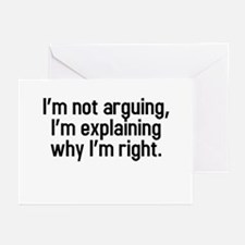 I'm not arguing Greeting Cards (Pk of 10)