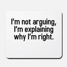 I'm not arguing Mousepad