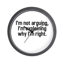 I'm not arguing Wall Clock