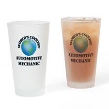 Automotive Mechanic Drinking Glass