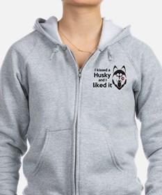 I Kissed a Husky and I Liked It! Zip Hoodie