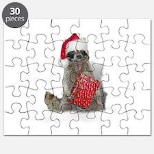 Christmas Raccoon Santa Puzzle