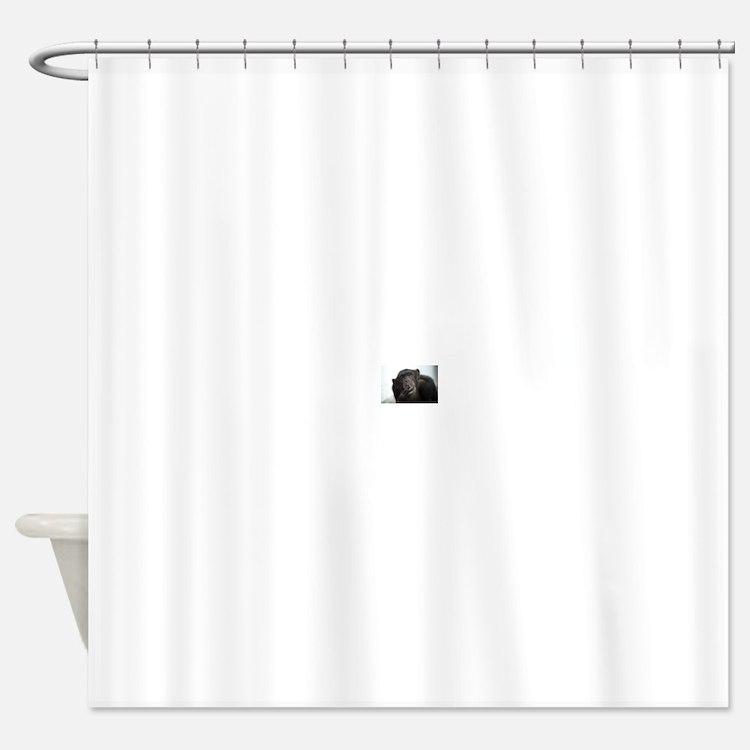 smoking monkey Shower Curtain