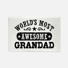 World's Most Awesome Grandad Rectangle Magnet