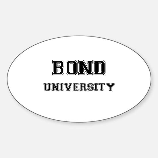 BOND UNIVERSITY Oval Decal