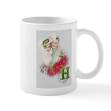 Monogram H Christmas Couple Mugs