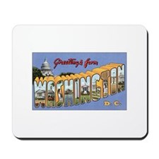 Washington DC Postcard Mousepad
