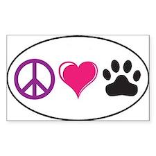 Cute Peace love paws Decal