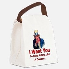Uncle Sam Wants You To Stop Actin Canvas Lunch Bag