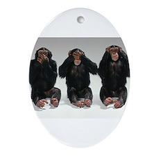monkeys Ornament (Oval)