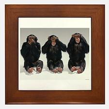 monkeys Framed Tile